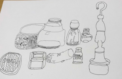 Diagrama Foundation: a pen and ink drawing from a workshop as part of the GALA project