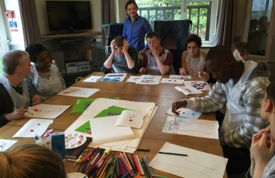 residents are cabrini house training artistic skills
