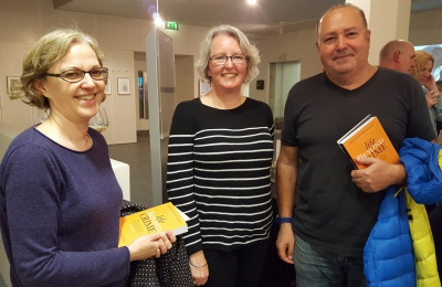 Diagrama Foundation: R-L Diagrama President Francisco Legaz Cervantes with Fostering Manager Catherine Moore and Head of Projects Helen Dean at the launch of 'Life Beyond Prison'