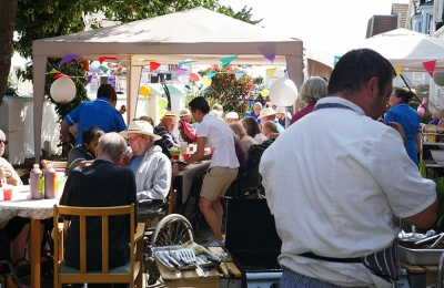 Edensor care centre chefs cook up a barbecue feast for residents and their guests