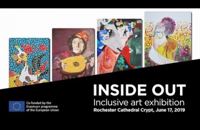 Embedded thumbnail for Inside Out. Inclusive art exhibition. Rochester Cathedral Crypt, June 17, 2019