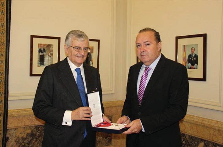 The Ministry of Justice of Spain awards the San Raimundo de Peñafort Cross to Francisco Legaz, Chairman of Diagrama Foundation