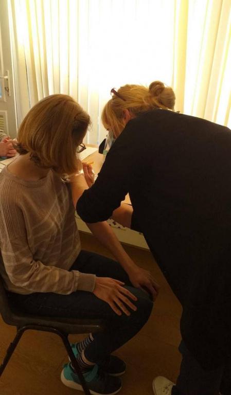 Cabrini residents receiving their first Coronavirus vaccination.