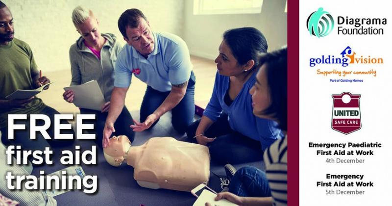 FREE first aid training Diagrama Foundation