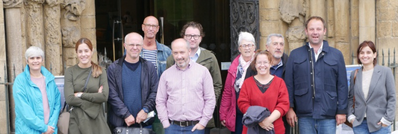 GALA project partners outside Rochester Cathedral , the venue for the final exhibition in 2019.